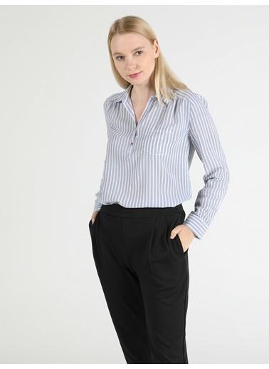Colin's Kadın Gömlek U.Kol Mavi